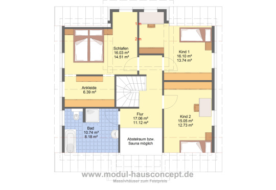modul hausconcept einfamilienh user. Black Bedroom Furniture Sets. Home Design Ideas