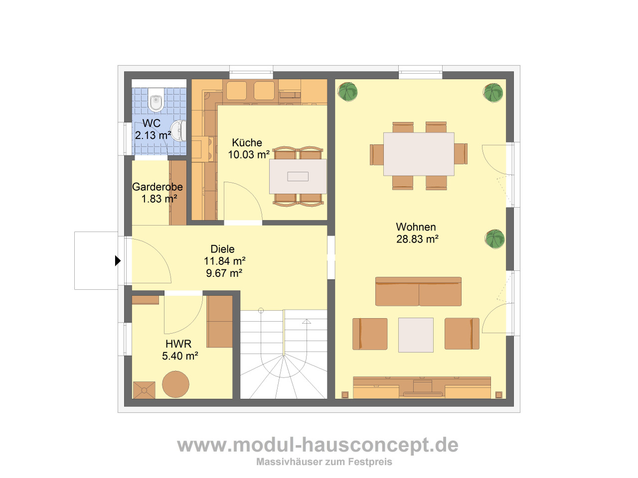 modul hausconcept stadtvillen. Black Bedroom Furniture Sets. Home Design Ideas